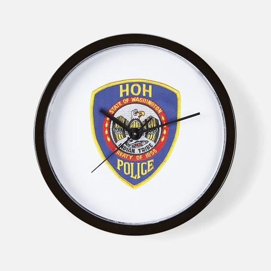 Hoh Tribal Police Wall Clock