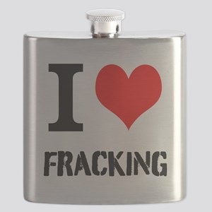 I Love Fracking Flask