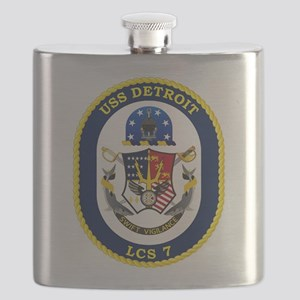 USS Detroit LCS-7 Flask