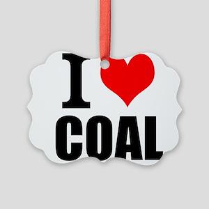 I Love Coal Ornament