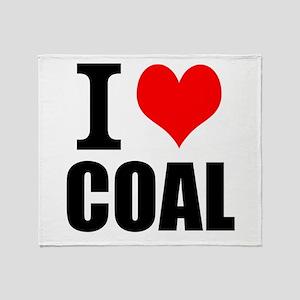 I Love Coal Throw Blanket