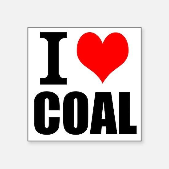 I Love Coal Sticker