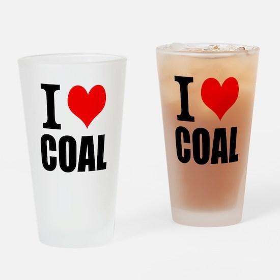 I Love Coal Drinking Glass