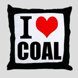 I Love Coal Throw Pillow