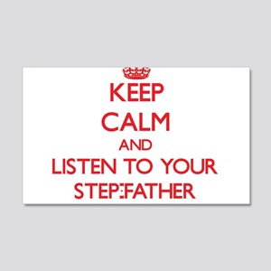 Keep Calm and Listen to your Step-Father Wall Deca