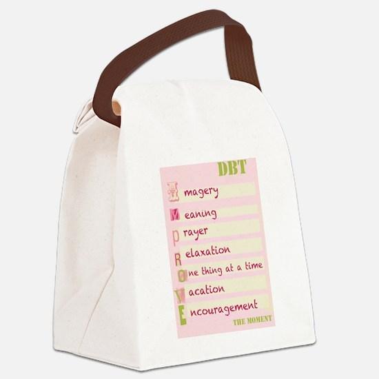 DBT Skills IMPROVE Canvas Lunch Bag