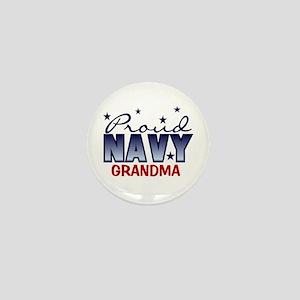 Proud Navy Grandma Mini Button