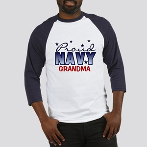 Proud Navy Grandma Baseball Jersey