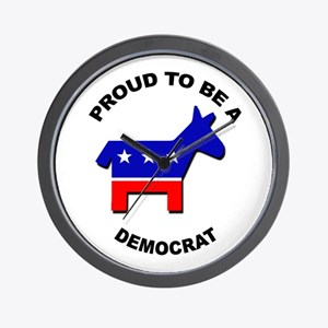 Proud to be a Democrat Wall Clock