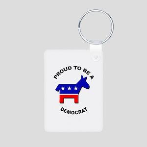 Proud to be a Democrat Aluminum Photo Keychain