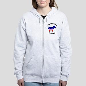 Proud to be a Democrat Women's Zip Hoodie
