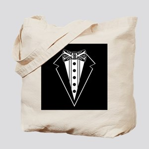Bow Tie and Black Tux Tote Bag