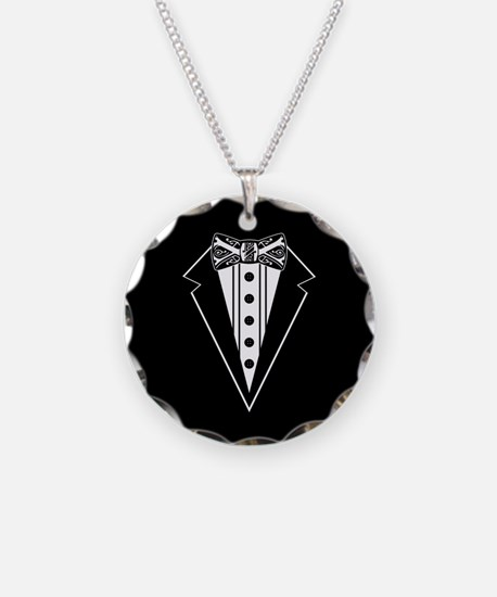Bow Tie and Black Tux Necklace