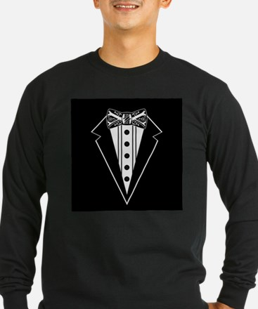 Bow Tie and Black Tux Long Sleeve T-Shirt