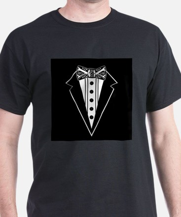 Bow Tie and Black Tux T-Shirt