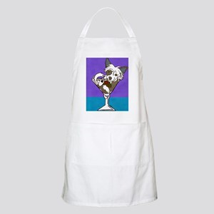 Chinese Crested Martini BBQ Apron