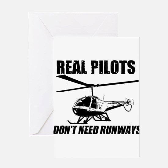 Real Pilots Dont Need Runways - Enstrom Greeting C