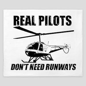 Real Pilots Dont Need Runways - Enstrom King Duvet
