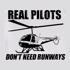 Real Pilots Dont Need Runways - Enstrom Throw Blan