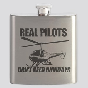 Real Pilots Dont Need Runways - Enstrom Flask