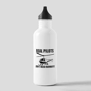Real Pilots Dont Need Runways - Enstrom Water Bott