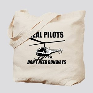 Real Pilots Dont Need Runways - Enstrom Tote Bag