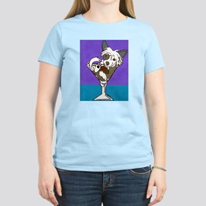 Chinese Crested Martini Women's Light T-Shirt