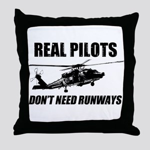 Real Pilots Dont Need Runways - Blackhawk Throw Pi