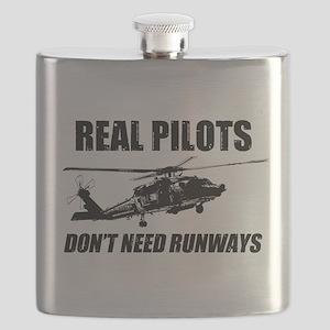 Real Pilots Dont Need Runways - Blackhawk Flask