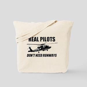 Real Pilots Dont Need Runways - Blackhawk Tote Bag