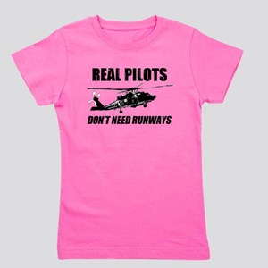 Real Pilots Dont Need Runways - Blackhawk Girl's T