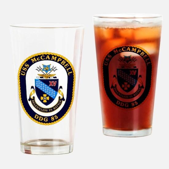 USS McCampbell DDG- 85 Drinking Glass