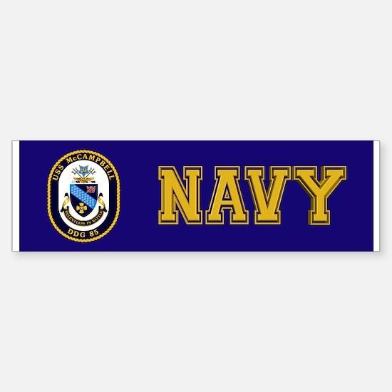 USS McCampbell DDG- 85 Sticker (Bumper)