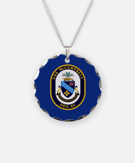 USS McCampbell DDG- 85 Necklace