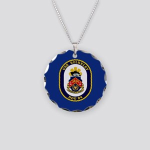 DDG-84 USS Bulkeley Necklace Circle Charm