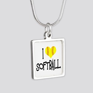 I Love Softball Necklaces