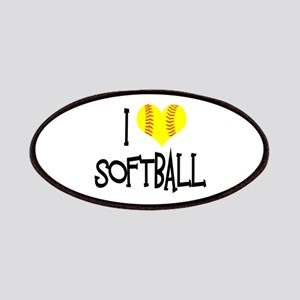 I Love Softball Patches