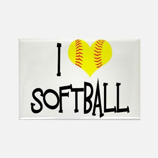 I Love Softball Magnets