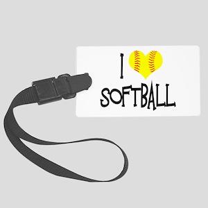 I Love Softball Luggage Tag