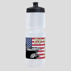 CV-59 USS Forrestal Sports Bottle