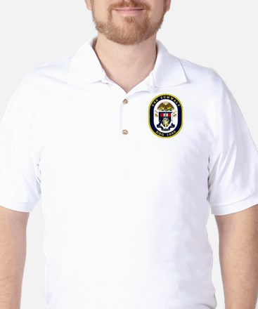 USS Zumwalt DDG 1000 Golf Shirt