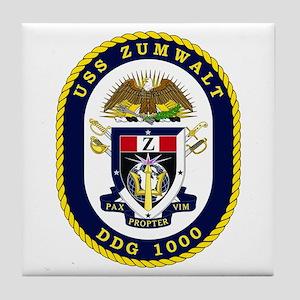 USS Zumwalt DDG 1000 Tile Coaster