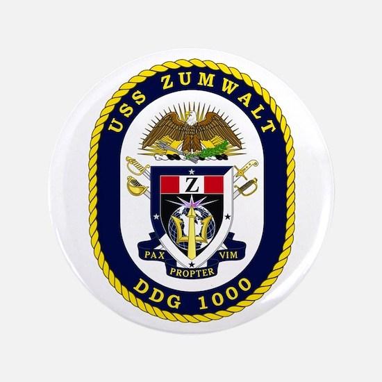 "USS Zumwalt DDG 1000 3.5"" Button"