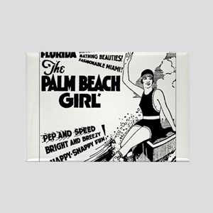 Vintage Florida Ad - Palm Beach Rectangle Magnet