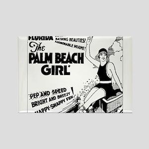 Vintage Florida Ad - Palm Beach Rectangle Magnet