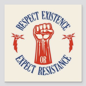 """Expect Respect Square Car Magnet 3"""" x 3"""""""