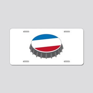Bottle Cap Aluminum License Plate