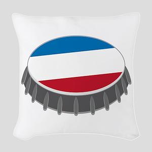Bottle Cap Woven Throw Pillow