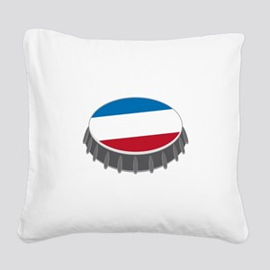 Bottle Cap Square Canvas Pillow