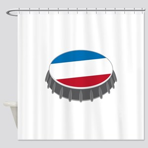 Bottle Cap Shower Curtain